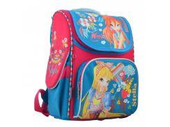 школьный каркасный рюкзак 1 Вересня h-11 winx mint для девочки (555188)