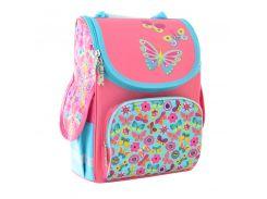 набор школьный каркасный рюкзак 1 Вересня smart pg-11 butterfly pink и пенал (554454)
