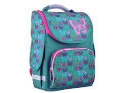 школьный каркасный рюкзак 1 Вересня smart pg-11 butterfly turquoise для младших классов (554449)