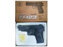 игрушечный металлический пистолет cyma zm23 с пульками