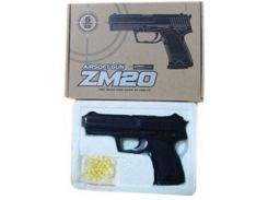 металлический игрушечный пистолет cyma zm20 с пульками 15*3*10 см в коробке