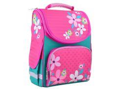 набор школьный каркасный рюкзак 1 Вересня pg-11 flowers pink (554445) с пеналом