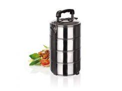 пищевой контейнер для еды banquet 48220004 store line на 2 литра 4 секции