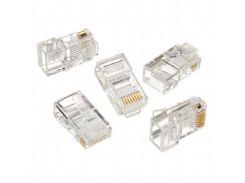 Коннектор lc-8p8c-001/10, модульная вилка, позолоченные контакты (100 ШТ)