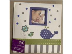 детский фотоальбом evg 10x15x200 bkm46200 darling baby на 200 фотографий