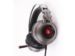 игровые наушники с микрофоном a4tech g525 bloody gray виртуальный звук usb