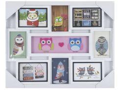 мульти-фоторамка evg fresh 8130 white collage 8 owl Совы на 8 фотографий
