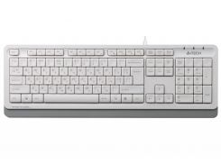 проводная клавиатура a4tech fk10 fstyler sleek mmedia comfort usb white