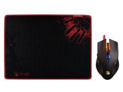 Мышь игровая bloody q50+ игровой коврик bloody 350x280x0,2 mm (bundle)