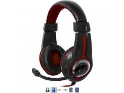 Игровая гарнитура defender warhead g-185 2m black+red (64106)