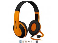 игровая гарнитура defender warhead g-120 2 метра black+orange (64099)