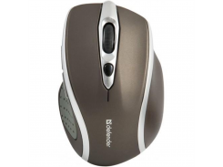 беспроводная мышь defender safari mm-675 nano 1600 dpi stone коричневая (52678)