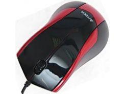 мышь проводная a4 tech n-400-2 red+black