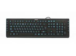 проводная клавиатура a4 tech kd-600l usb black со светодиодной подсветкой