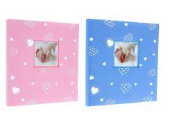 традиционный альбом для детских фотографий 60 страниц gedeon dbcl30 baby heart 29x32 см