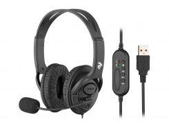 стерео гарнітура для ПК usb з мікрофоном 2e ch13 over-ear