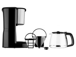 кофеварка капельная sencor на 1250 мл 1000 Вт (sce3050ss)