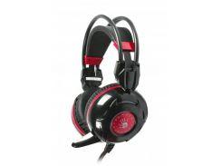 игровые наушники a4 tech bloody g300 black+red с микрофоном