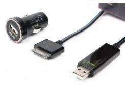 Автомобильное зарядное устройство dexim dca 275-bl black usb на 30pin