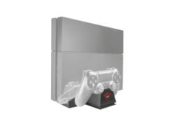 набор trust gxt 702 cooling stand с двойной зарядкой для игровой приставки (21013)