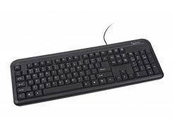 проводная клавиатура gembird kb-u-101-ua black usb стандартная украинская раскладка