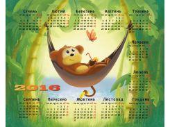 коврик для мышки podmyshku Год Обезьяны 2016