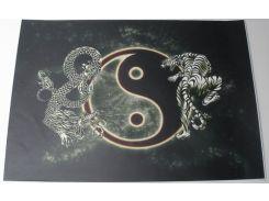 Наклейка на ноут. yin&yan