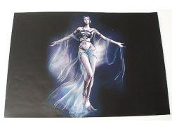 Наклейка на ноут.  fantasy girl