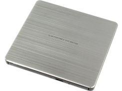 внешний привод hitachi-lg gp60ns60 dvd+-r/rw usb2.0 ext ret ultra slim silver