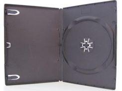 Бокс dvd-1 диска 7 мм черный глянцевый, 100 шт.
