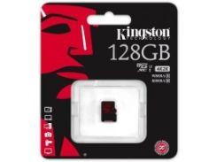 скоростная карта памяти kingston 128 Гб microsdxc c10 uhs-i u3 4k (sdca3/128gbsp)