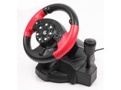 игровой руль с педалями gembird str-mv-02 двойная вибрация multi-интерфейс 3-в-1