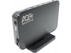 внешний карман 3.5 agestar 3ub3a8-6g black usb3.0