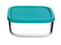 Емкость для продуктов 15х15, quadra голубая