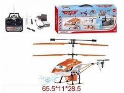 радиоуправляемый вертолет Литачки 8286-2g аккумуляторы свет, звук, 3,5 канала в коробке 65х11х28