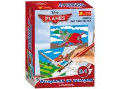 раскраска по номерам ranok creative 14153043 Самолеты Огонь и вода