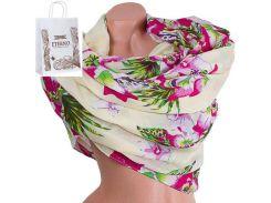 Женский хлопковый шарф 181 на 88 см  eterno (ЭТЕРНО) es0908-9-1