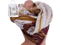 Женский хлопковый шарф 187 на 87 см  eterno (ЭТЕРНО) es0908-6-1