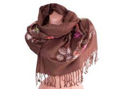 Женский шерстяной шарф 166 на 63 см eterno (ЭТЕРНО) es0206-7-brown-y2