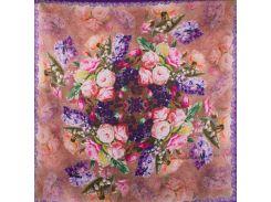 женский атласный платок ererno es0406-6-12-y 67 на 67 см в подарочном пакете