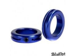 Замок на грипсы STOLEN Lock Sand-blasted Dark Blue