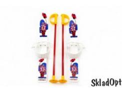 Лыжи с палками Marmat детские пласт., длина-70см белый