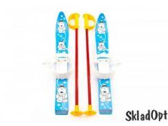 Лыжи с палками Marmat детские пласт., длина-70см синий