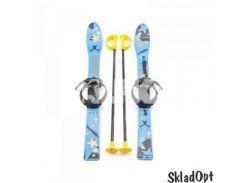 Лыжи с палками Marmat детские пласт., длина-90см синий