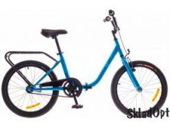 Велосипед 20 Dorozhnik FUN 14G St с багажн. синий 2016