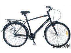 Велосипед SKD 26  LEON SOLARIS MAN    Al с багажн. черн. 2014