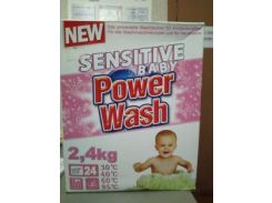 Стиральный Порошок POWER WASH 2.4 кг sensitive