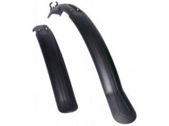 Комплект крыльев 24-28 SIMPLA Next SDL, длинная скоба заднего крепления, черные