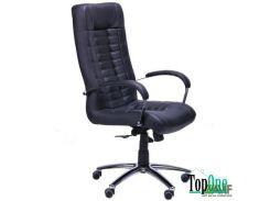 Кресло AMF Парис Хром Кожа Люкс комбинированная Черная 365708