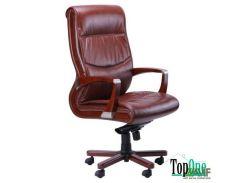Кресло AMF Монтана НВ, кожа коричневая (619-B+PVC) 38669